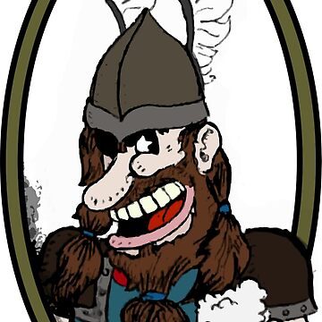 Beer-drinking viking by mgcamacho