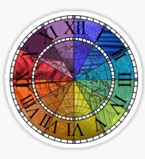 Color Wheel Clock Sticker