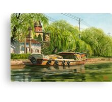 Chinese Water Taxi Canvas Print