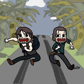 The Walking Dead, Rick and Daryl, Apocalypse Time by kaylieghkartoon