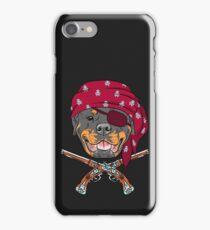 Dog Rottweiler Pirate  iPhone Case/Skin