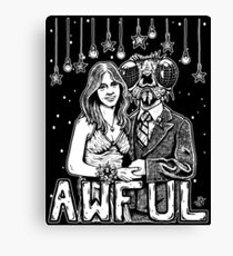 Awful Canvas Print