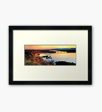 Port Augusta - Red Banks at Dawn Framed Print