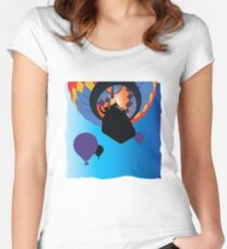 Colorful Hot Air Balloons Women's Fitted Scoop T-Shirt