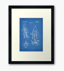 NASA Space Shuttle Invention Patent Art, Blueprint Framed Print