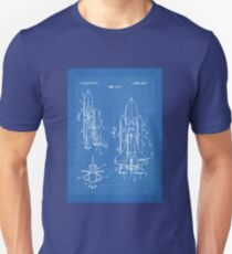 NASA Space Shuttle Invention Patent Art, Blueprint Unisex T-Shirt