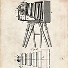 1885 Camera Invention Patent Art by Steve Chambers