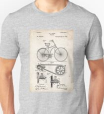 1890 Bicycle Invention Patent Art Unisex T-Shirt