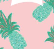 Green Pineapple Mickey Head Sticker