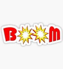"""BOOM"" typography Sticker"