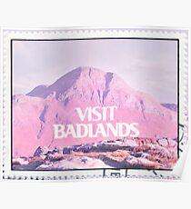 VISIT BADLANDS Poster