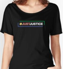 #JustJustice long on black Women's Relaxed Fit T-Shirt