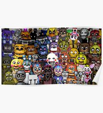FNaF five 5 nights at Freddy's Game Gamer Gaming Cosplay Gift Poster