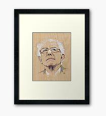 (Wood) Burnie Sanders Framed Print
