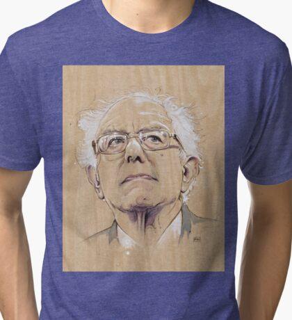 (Wood) Burnie Sanders Tri-blend T-Shirt