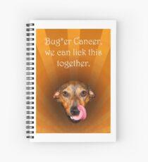Cuaderno de espiral Bugger cancer, we can lick it together, dog licking lips, humor