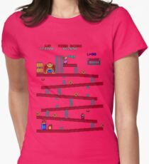 Donkey Kong Arcade Womens Fitted T-Shirt