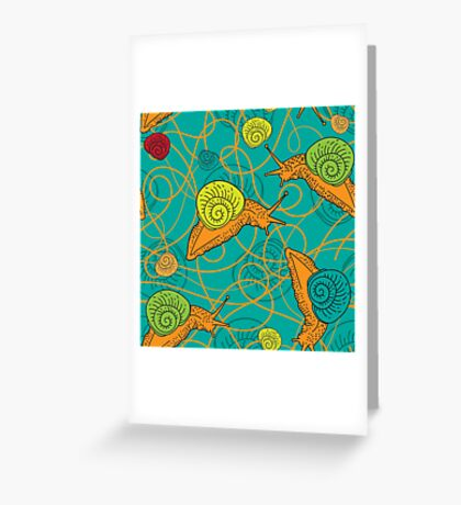 - Snails pattern - Greeting Card