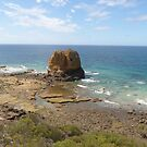 Cathedral Rock! Aireys Inlet, Grt. Ocean Road. Victoria.  by Rita Blom