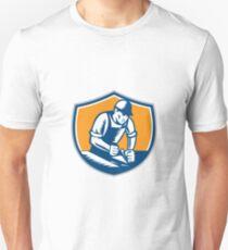 Carpenter Woodworker Plane Crest Retro Unisex T-Shirt