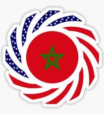 Moroccan American Multinational Patriot Flag Series Sticker