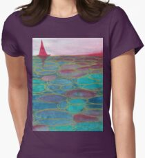 Sunset sea  Womens Fitted T-Shirt