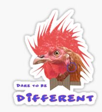 Dare to Be Different on White Sticker