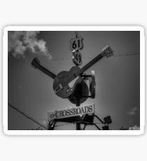 Clarksdale - The Crossroads 001 BW Sticker