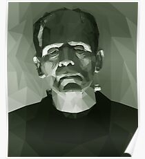 Frankenstein in Low-Poly Poster