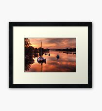 Moruya River Sunrise Framed Print
