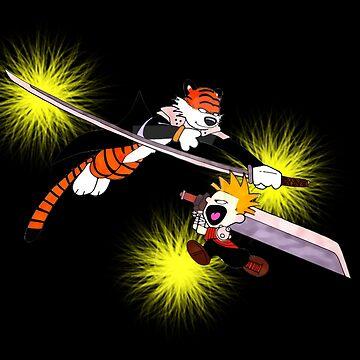 Calvin and Hobbes Advanture Samurai by ArtNacha