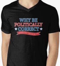political Men's V-Neck T-Shirt