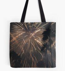 Fireworks Over Hollywood Tote Bag