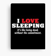 love sleeping Canvas Print