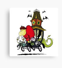 Gruesome Twosome Wacky Races Canvas Print