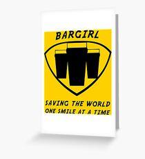 Bargirl Greeting Card