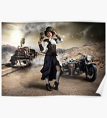 Traveling Steam Punk Poster