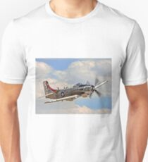 Douglas AD-4NA Skyraider 126922 402-AK G-RADR Unisex T-Shirt