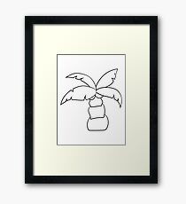 comic cartoon funny sweet small cute palm Framed Print