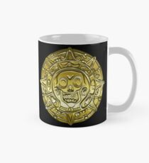 Gold Money pirate coin with a skull Mug