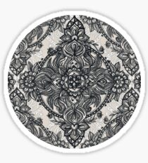 Charcoal Lace Pencil Doodle Sticker