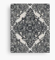 Charcoal Lace Pencil Doodle Canvas Print