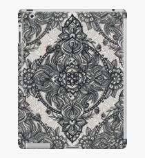 Charcoal Lace Pencil Doodle iPad Case/Skin