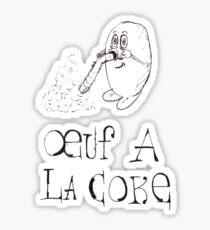 oeuf à la coke  Sticker