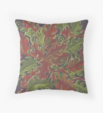 Oak leaves - Tataro pattern Throw Pillow