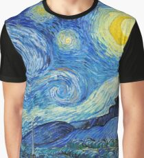 1889-Vincent van Gogh-The Starry Night-73x92 Graphic T-Shirt