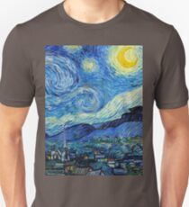 1889-Vincent van Gogh-The Starry Night-73x92 Unisex T-Shirt