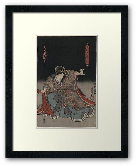 Kunisada Utagawa - Narutonomae  - 1848 - Woodcut by CrankyOldDude