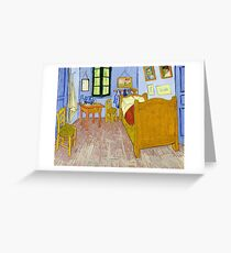 1889-Vincent van Gogh-Van Gogh's Bedroom in Arles-57x74 Greeting Card