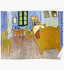 1889-Vincent van Gogh-Van Gogh's Bedroom in Arles-57x74 Poster